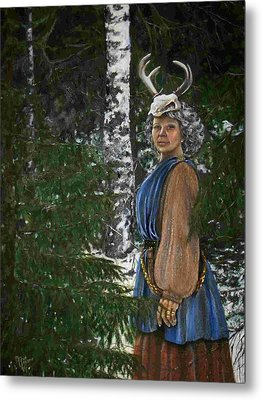 Who Is There In My Forrest Metal Print by Maren Jeskanen