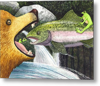 Whoa Nellie Metal Print by Catherine G McElroy