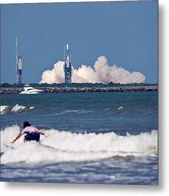 Metal Print featuring the photograph Whoah Dude It's A Rocket by Ron Dubin