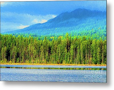 Metal Print featuring the photograph Whonnock Lake Mountain Photo Art by Sharon Talson