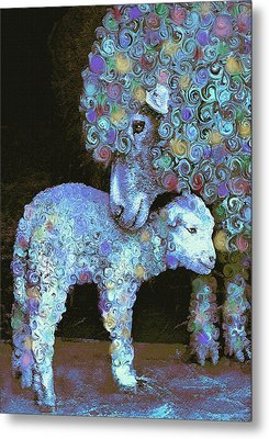 Whose Little Lamb Are You? Metal Print