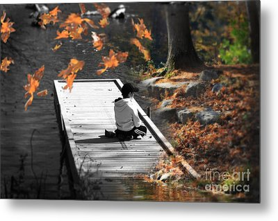 Why Does Everything Have To Change Metal Print by Cathy  Beharriell