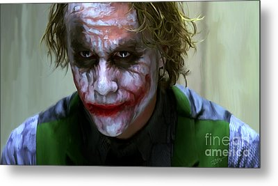 Why So Serious Metal Print by Paul Tagliamonte