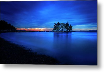 Whytecliff Sunset Metal Print by John Poon
