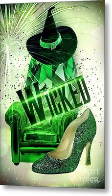 Metal Print featuring the digital art Wicked by Mo T