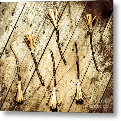 Wicked Witch Broomsticks Metal Print