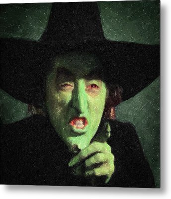 Wicked Witch Of The East Metal Print by Taylan Apukovska