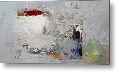 Wide Abstract B Metal Print by Becky Kim