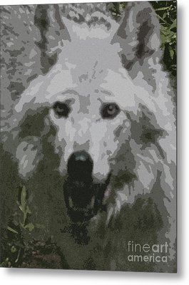 Metal Print featuring the painting Wide Eyes Vision by Debra     Vatalaro
