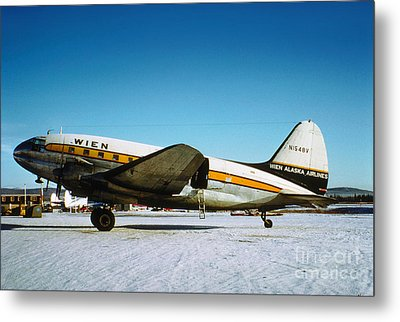 Wien Alaska Airlines Curtiss-wright Cw-20 N1548v Metal Print by Wernher Krutein