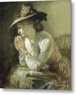 Wife Of The Artist, 1903 Metal Print by William Orpen