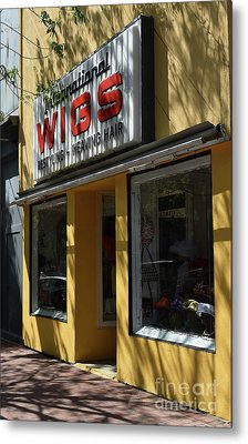 Metal Print featuring the photograph Wigs by Skip Willits