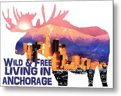 Metal Print featuring the digital art Wild And Free by Elaine Ossipov
