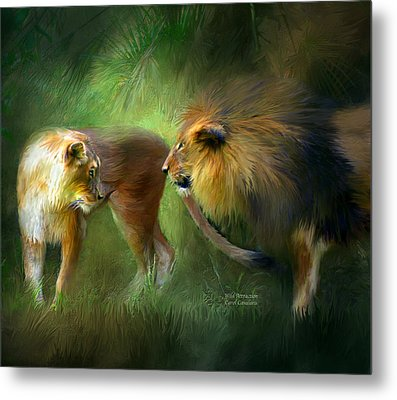 Wild Attraction Metal Print by Carol Cavalaris