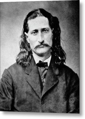 Wild Bill Hickok - American Gunfighter Legend Metal Print