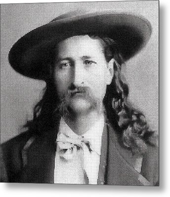 Wild Bill Hickok Mosaic Metal Print