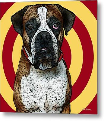 Wild Boxer 2 Metal Print by Bibi Romer