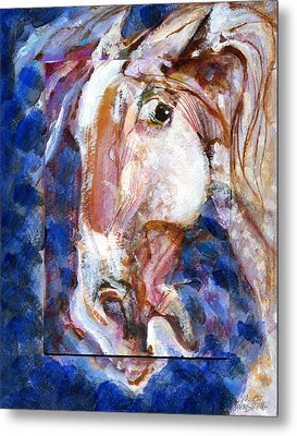 Metal Print featuring the painting Wild Eye by Mary Armstrong