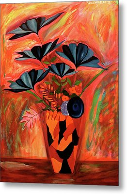 Wild Flowers  A Still Life  Metal Print by Iconic Images Art Gallery David Pucciarelli