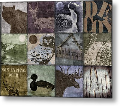 Wild Game Patchwork II Metal Print by Mindy Sommers