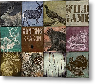 Wild Game Patchwork Metal Print by Mindy Sommers