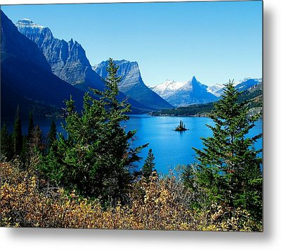 Wild Goose Island In The Fall Metal Print