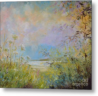 Wild Grasses Of Saugatuck Metal Print
