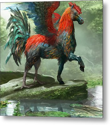 Wild Hippalektryon Metal Print by Ryan Barger