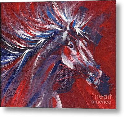 Wild Horse Bust Metal Print