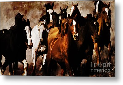 Wild Horses 01 Metal Print by Gull G