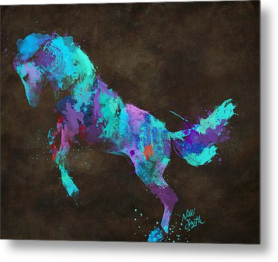 Metal Print featuring the digital art Wild Horses Couldn't Drag Me Away From You by Nikki Marie Smith