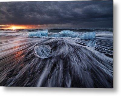 Wild Ice V Metal Print by Juan Pablo De