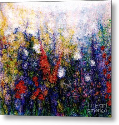 Wild Meadow Flowers Metal Print by Claire Bull