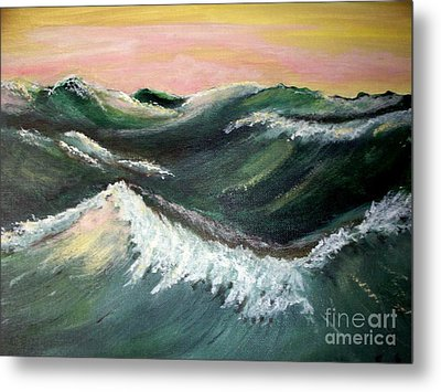 Wild Sea Metal Print by Carol Grimes
