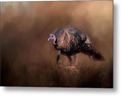 Wild Turkey In The Woods Metal Print