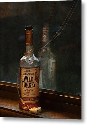 Wild Turkey In Window Metal Print