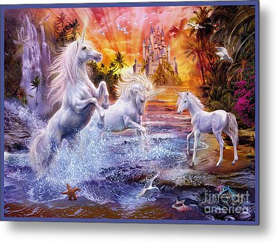 Wild Unicorns Metal Print by Jan Patrik Krasny