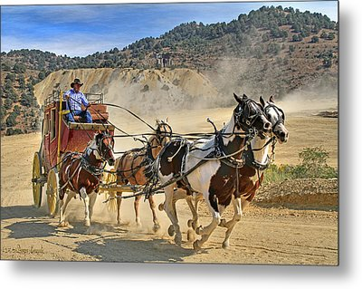 Wild West Ride Metal Print by Donna Kennedy