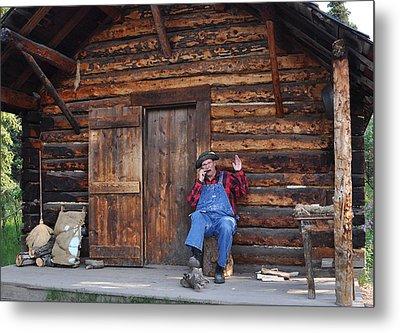 Wilderness Cabin Alaska Metal Print by Jennifer Crites