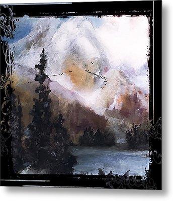 Wilderness Mountain Landscape Metal Print