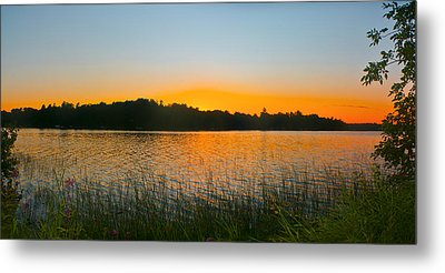 Wilderness Point Sunset Panorama Metal Print
