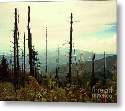 Metal Print featuring the mixed media Wildfire by Desiree Paquette