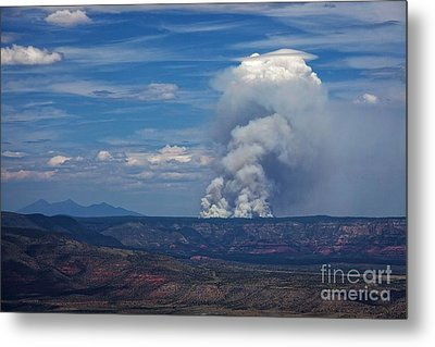 Metal Print featuring the photograph Wildfire Flares Up In Northern Az by Ron Chilston