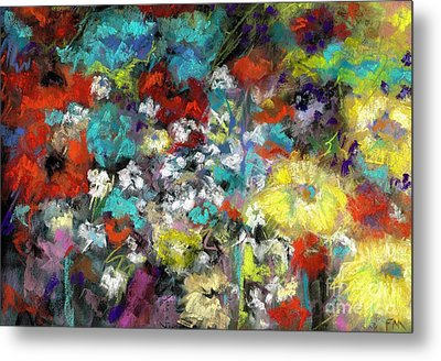 Metal Print featuring the painting Wildflower Field by Frances Marino