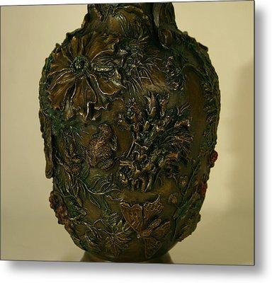Wildflower Vase Detail Metal Print by Dawn Senior-Trask