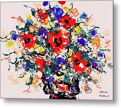 Wildflowers Bouquet Metal Print by Natalie Holland