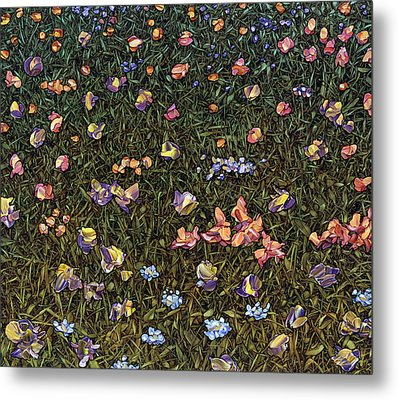 Metal Print featuring the painting Wildflowers by James W Johnson