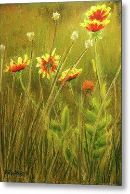 Wildflowers Metal Print by Joan Swanson