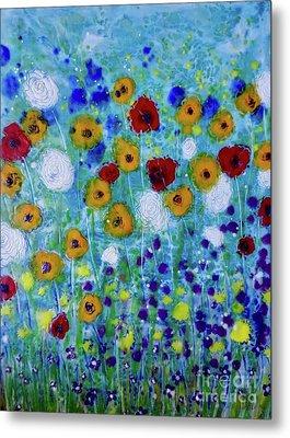 Wildflowers Never Die Metal Print