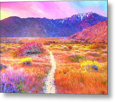 Wildflowers On The Pacific Trail Metal Print by Dominic Piperata